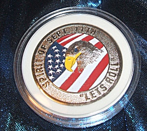 Spirit of Sept. 11th. 'Let's Roll' commemorative token. (Image1)