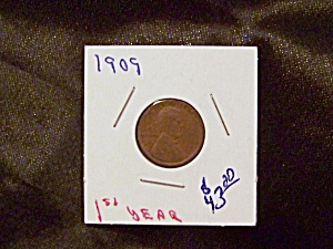 "Lincoln Penny 1909 ""1st. Year"" (Image1)"