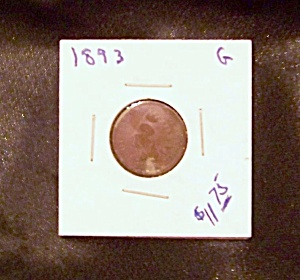 Indian head cent 1893 G (Image1)