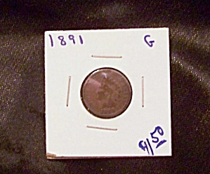 Indian Head Cent 1891 G