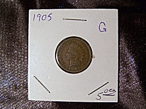 Indian Head Penny 1905 G (Image1)