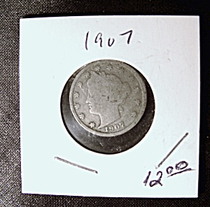 Liberty Head 'V' Nickel 1907 (Image1)