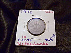 Netherlands 10 cent coin 1942 unc. (Image1)