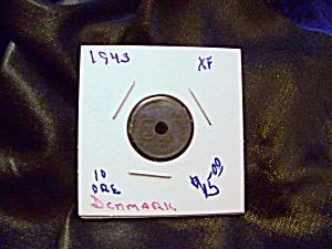 Denmark 10 ore coin 1943 XF (Image1)