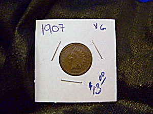 Indian Cent 1907 Vg