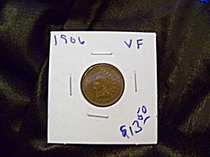 Indian Cent 1906 Vf