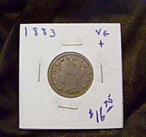Liberty Head V Nickel 1883 VG + (Image1)