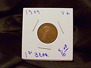 "Lincoln Cent 1909  VG ""!st year"" (Image1)"