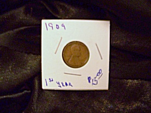 "Lincoln Cent 1909 ""1st Year"""