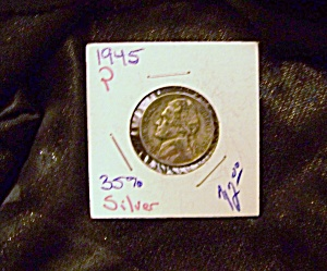 Jefferson Nickel 1945 P wartime 35 % silver (Image1)