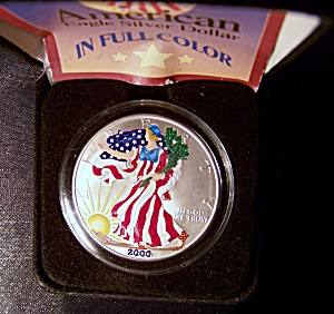 American Silver Eagle Dollar 2000 Brilliantly Uncirculated full color (Image1)