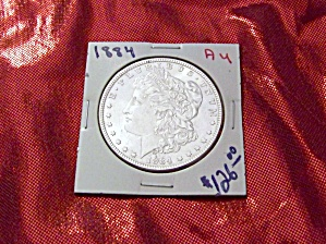 Morgan Silver Dollar 1884 Au