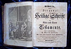 Die Heilige Schrift Alten Und Neuen Testaments circa 18th. Century. (Image1)