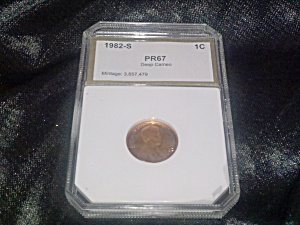 Lincoln cent 1982-S PR67 deep cameo (Image1)