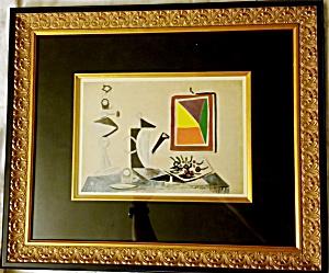 Picasso. Nature Morte Au Miroir. Lithograph. First Edition. 1943. COA, (Image1)