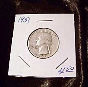 Washington Quarter 1951 90% Silver.
