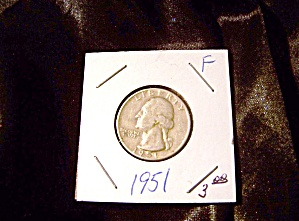 Washington Quarter 1951-f 90% Silver.