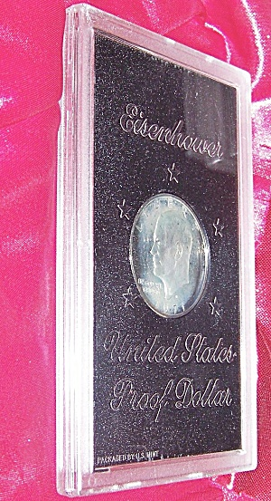 Eisenhower United States Proof Dollar 1971 plastic encapsulated. (Image1)