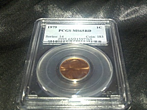 1979 PCGS certified MS65RD U.S. Cent (Image1)