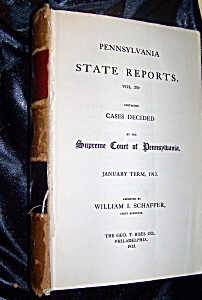 Penn. State Reports Supreme Court Of Pennsylvania Vol 239