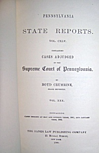 Penn. State Reports Supreme Court of Pennsylvania  1899 (Image1)