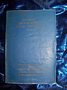 Motor Specifications And Prices 1938 Rare