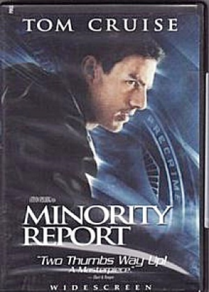 Minority Report. Tom Cruise. Widescreen. DVD. (Image1)