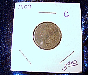 Indian head penny 1902 G (Image1)