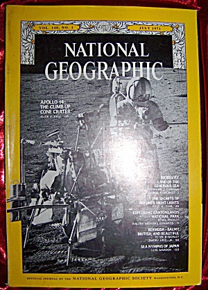 National Geographic July 1971. Apollo 14 moon landing. (Image1)