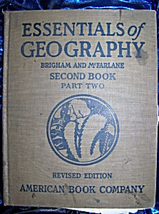 Essentials of Geography Second Book Part Two 1920 HC (Image1)
