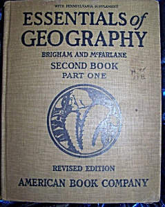 Essentials Of Geography Second Book Part One 1925 Hc