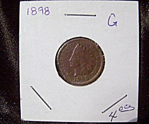 Indian Head Penny 1898 G (Image1)