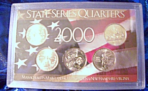 State Series Quarters 2000-P in patriotic display holder (Image1)