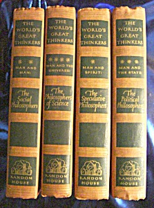 World's Great Thinkers 4 Vol 1947 FIRST PRINTING HC (Image1)
