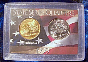 State Series Quarters 1999-p, 1999-d Connecticut
