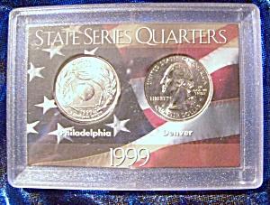 State Series Quarters 1999-P, 1999-D, Georgia (Image1)