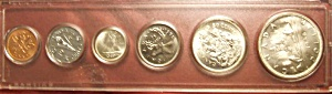 Canadian coins, set of six encased. Beautiful condition (Image1)