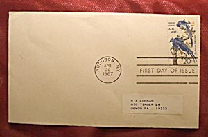 Audubon 20 c stamp 1967 first day of issue w envelope (Image1)