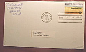 Rural America 10c stamp 1st day of issue and envelope (Image1)