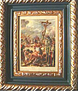 Original Colored Plate Of The Crucifixion