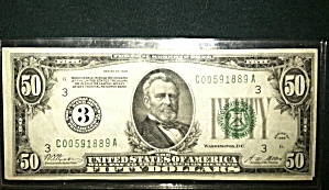 50 Dollar Federal Reserve Note Series Of 1928