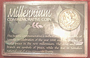 Millenium Commemorative Coin From Republic Of Somalia