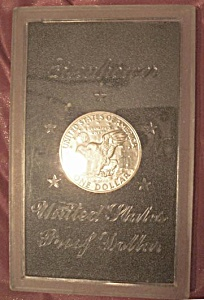 Eisenhower 1971 Proof Silver Dollar.