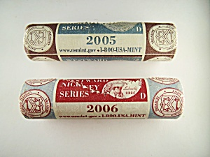 Pair Of 2005-d And 2006-d Westward Journey Series Nickel Rolls.