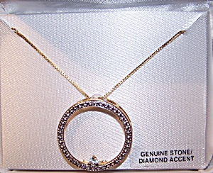 Genuine Stone/Diamond Accent 18K gold over Sterling Silver. (Image1)