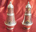 Click here to enlarge image and see more about item 012408012: Sterling Silver Mayflower salt and pepper shakers.