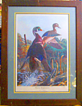 Click here to enlarge image and see more about item 012708001: Robert E. Binks print 'Hasty Depature' limited edition