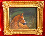 Click here to enlarge image and see more about item 013108002: Original Chincoteague pony painting by Jan Eichfeld