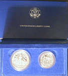 Click here to enlarge image and see more about item 013108004: U.S. Liberty Coins Silver Commemorative, Ellis Island