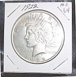Click here to enlarge image and see more about item 020608002: 1922 MS 64 Silver Dollar